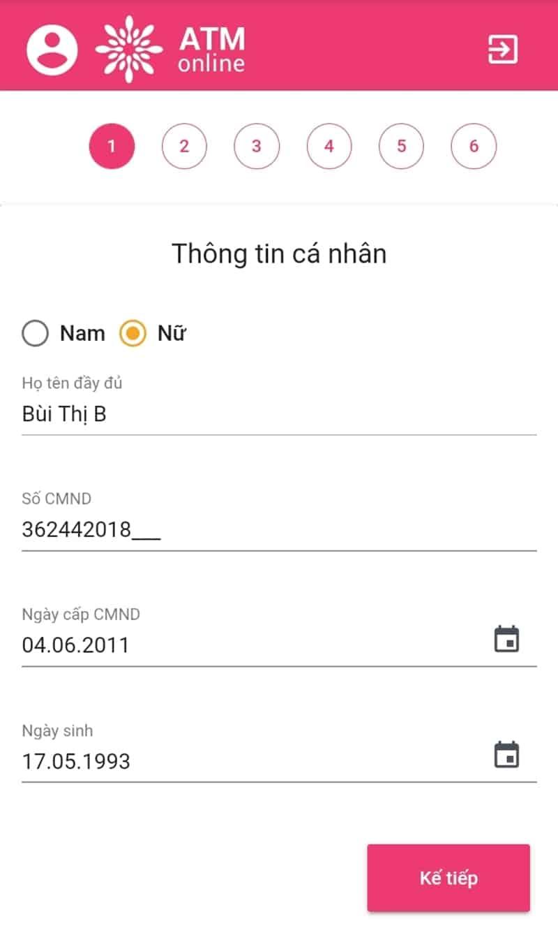 Hướng dẫn vay tiền ATM Online