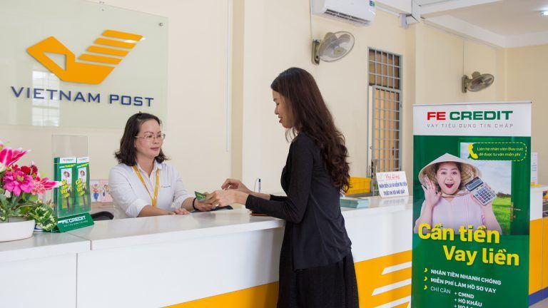 Sản phẩm vay tiền qua bưu điện - Fe Credit