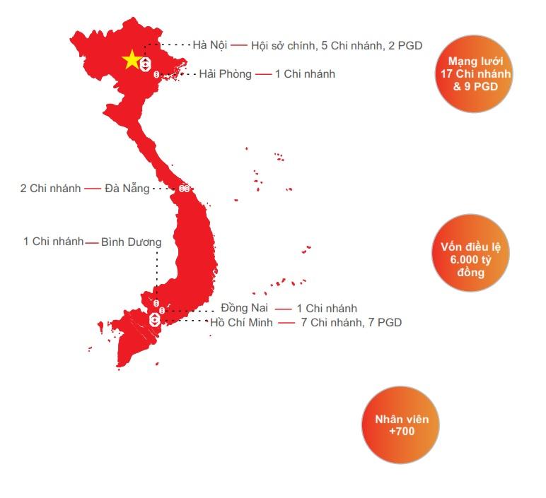 Sau gần 30 năm hình thành và phát triển, Public Bank Việt Nam hiện sở hữu mạng lưới gồm 17 chi nhánh và 9 PGD