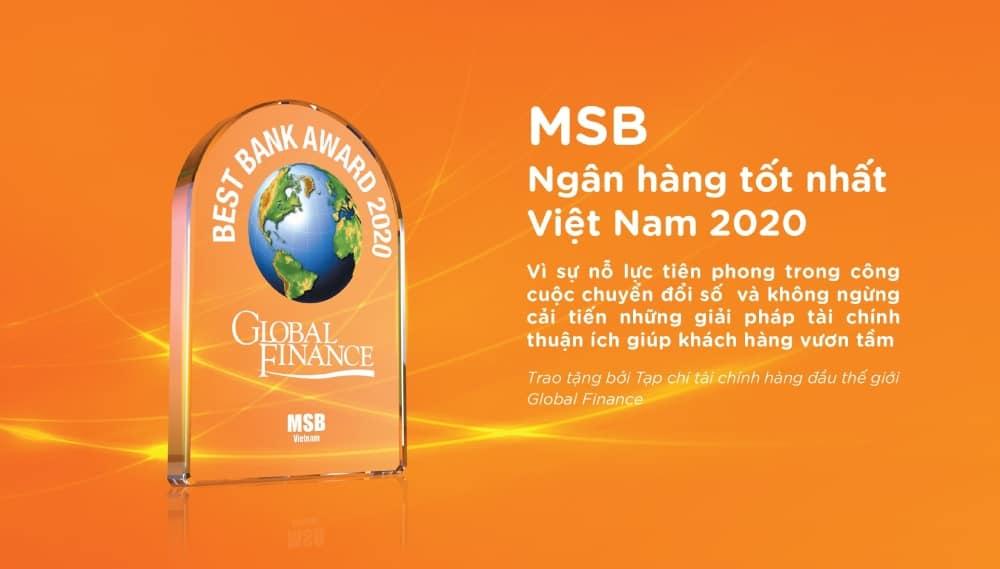 MSB giải thưởng