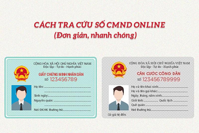Cách tra cứu số CMND online